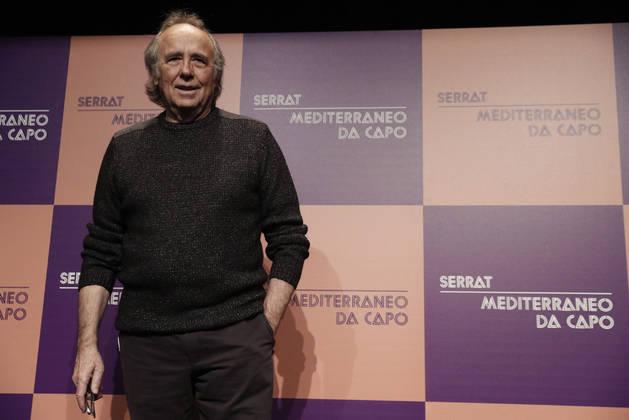 Imagen de Joan Manuel Serrat en la presentación de la gira 'Mediterráneo da capo'.