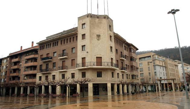 Vista de archivo del Ayuntamiento de Huarte.