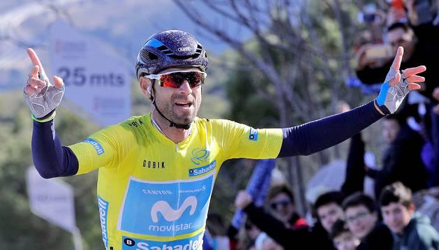 Alejandro Valverde será la gran estrella de la carrera de Estella en 2018.