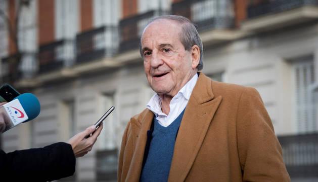 Imagen del periodista deportivo José María García, su llegada a la Audiencia Nacional de Madrid.