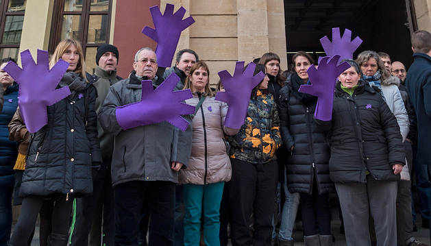 Imagen de una concentración contra la violencia de género.