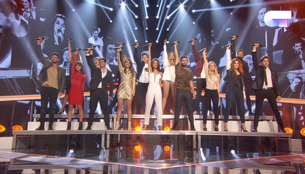 Los concursantes de OT tras cantar 'Camina'