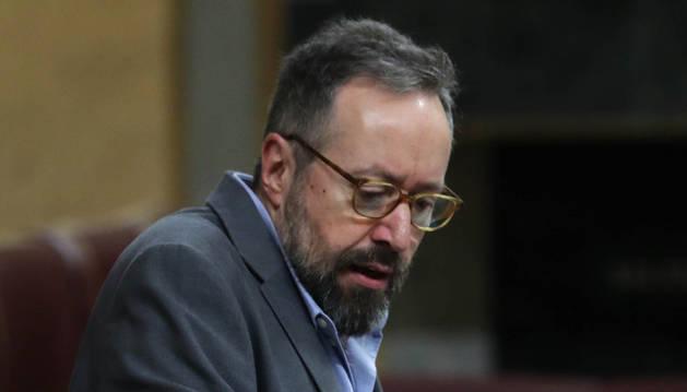El portavoz del Grupo Ciudadanos, Juan Carlos Girauta, durante su intervención en el Congreso de los Diputados que esta tarde debate la Toma en consideración de Proposiciones de Ley y Proposiciones no de Ley, además de las mociones consecuencia de interpelaciones urgentes.