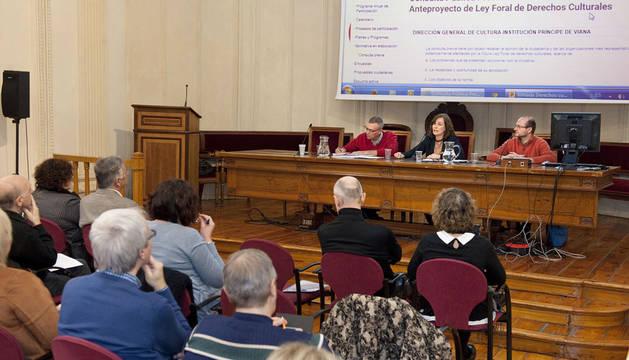 La consejera Herrera abre la jornada de presentación del anteproyecto de Ley Foral de Derechos Culturales