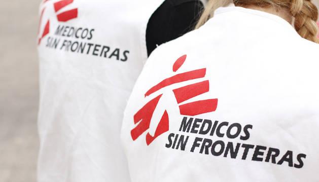 Imagen del logotipo de Médicos sin Fronteras.