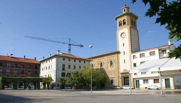 La plaza Consistorial de Villava.