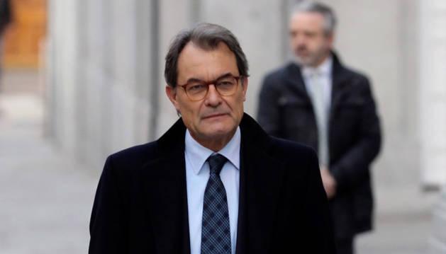 Imagen de Artur Mas a su llegada al Tribunal Supremo.