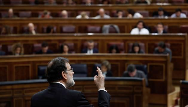 Rajoy, este miércoles, respondiendo a Allí