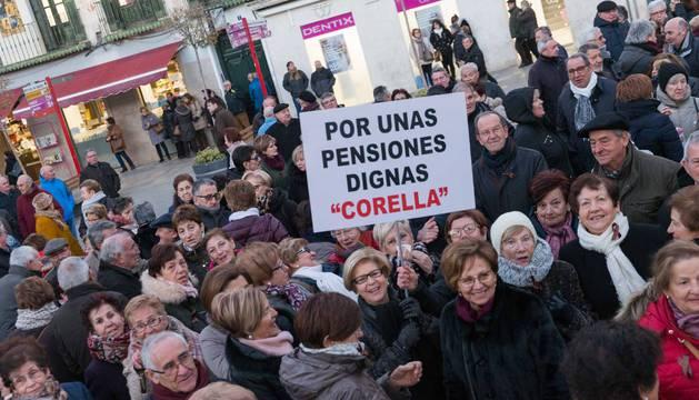Tudela y Pamplona se han sumado a otras manifestaciones que ha habido en el resto del país para reclamar pensiones dignas.