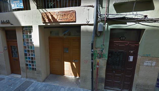 Sede de la peña La Única, en la calle Jarauta