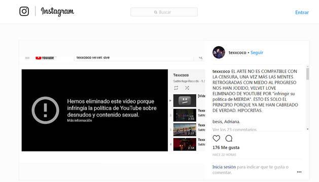 Youtube repone un vídeo musical censurado por mostrar pechos