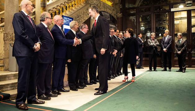 El Rey llama a la cooperación Estado-Cataluña para conservar un
