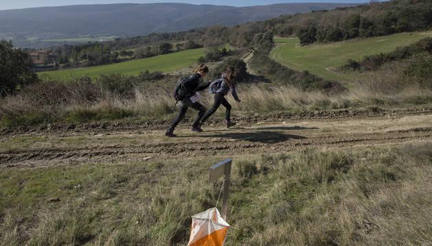 La Federación Navarra de Montaña organizópruebas de orientación como modalidad para que los más pequeños hagansenderismo