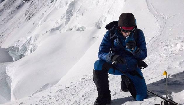 Kilian Jornet, en el Everest la pasada primavera.