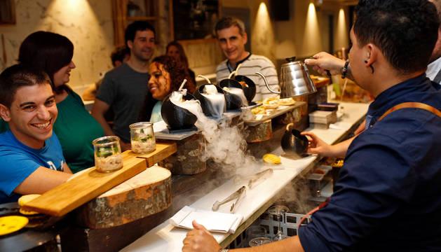 El bar Baserri, en Pamplona, en la Semana del Pincho del año pasado.