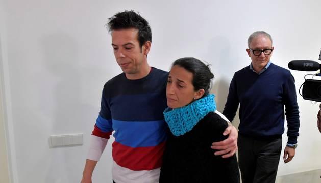Angel Cruzy Patricia Ramirez, los padres del niño Gabriel desaparecido en el paraje de las Horticuelas en Nijar