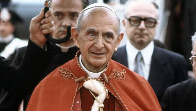 Imagen de archivo del papa Pablo VI, que fue beatificado en 2014.