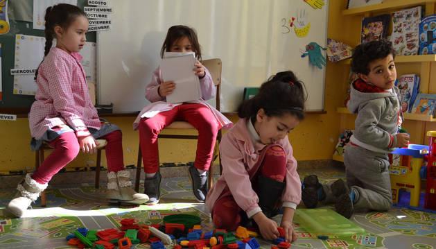 En la imagen, alumnos del colegio Virgen de la Cerca de Andosilla, uno de los que impartiría religión islámica.