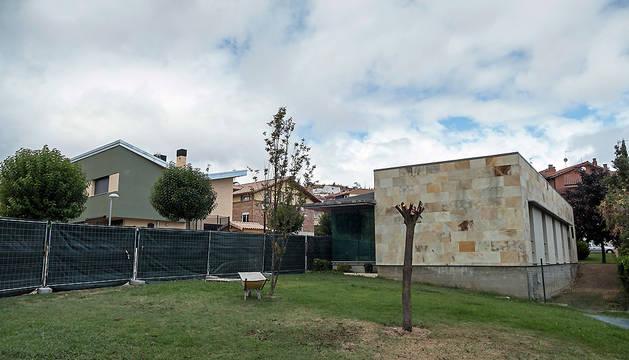 Obras en el centro de salud de Ayegui.