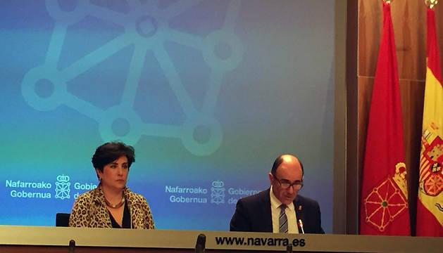 María Solana y Manu Ayerdi, este miércoles.