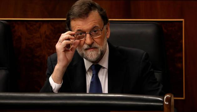 Rajoy, este miércoles, en el Congreso