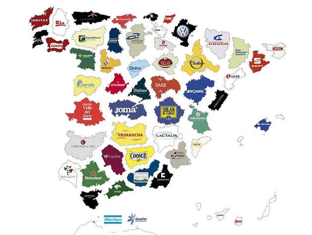 Conoce cuál es la empresa con más relevancia en cada provincia española