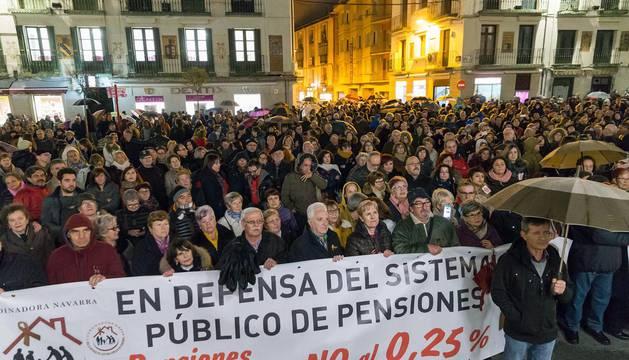 Manifestación en Tudela por las pensiones dignas.