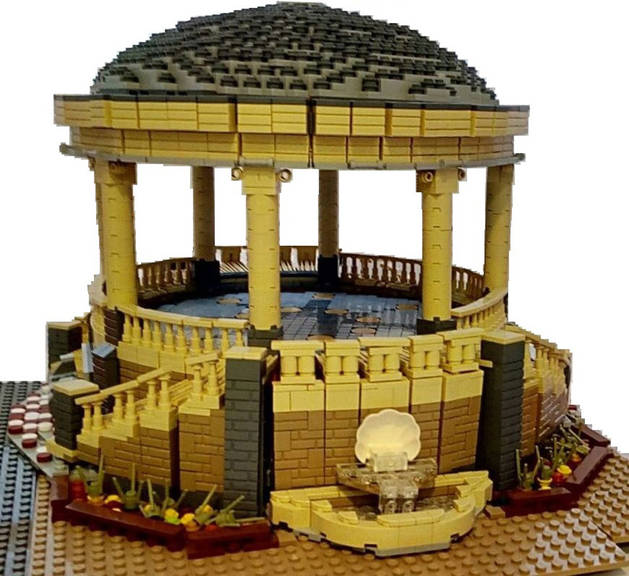 Imagen de una construcción de Lego.