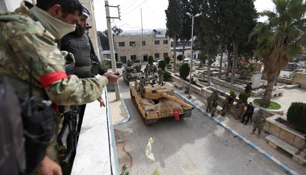 Erdogan asegura que el Ejército turco ha tomado la ciudad siria de Afrín