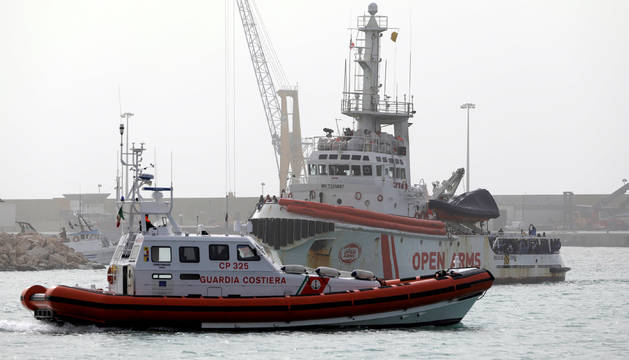 Imagen del barco de la ONG Proactiva Open Arms.