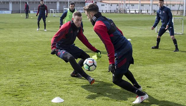 Torró, Lillo y Tano, ausencias en el entrenamiento de Osasuna