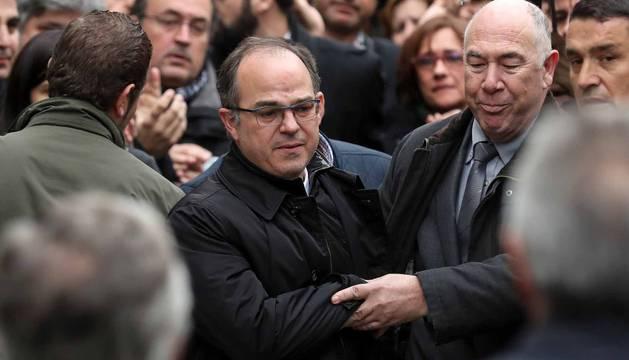 Jordi Turull llegando al Tribunal Supremo