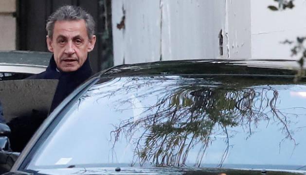 Sarkozy, tras su declaración.