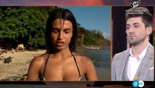 Sofía Suescun desde la isla de Honduras habló con su ya ex Alejandro Abalá.