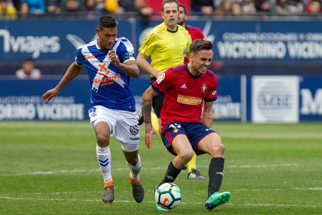 Imagen de Rober Ibáñez en un momento del partido contra el Tenerife.