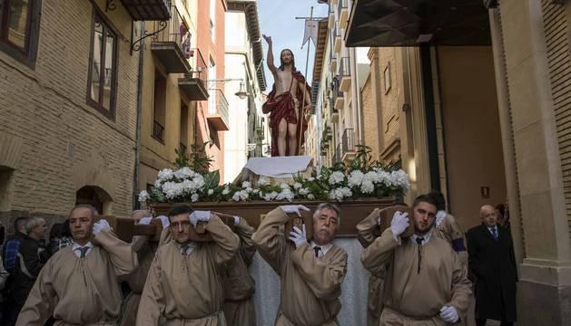 Procesión del Cristo Resucitado en Pamplona