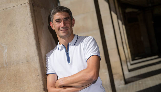 Imagen del colegiado navarro Alberto Undiano Mallenco, en Pamplona.