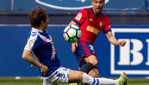 Javier Flaño, en el partido contra el Tenerife.