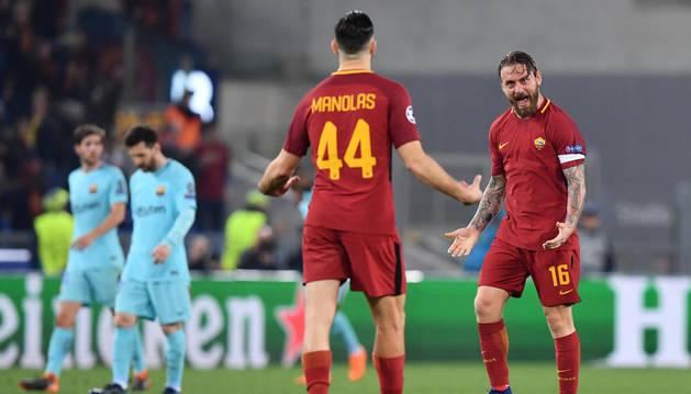 El Barcelona firma una debacle histórica en Roma y queda eliminado de la Champions