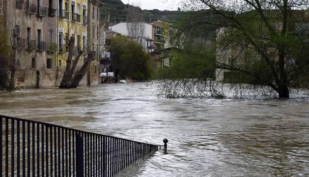Imágenes de la crecida de los ríos en Navarra