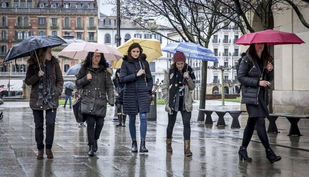 Miércoles y jueves con temporal de lluvia en Navarra