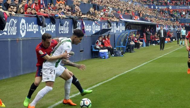 Fotos de la primera parte del partido.