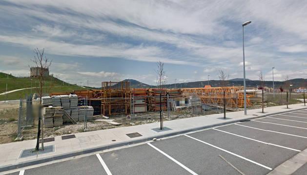 El suceso ha ocurrido en un edificio en construcción en Erripagaina.