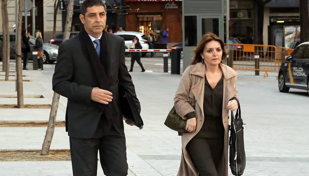 El mayor de los Mossos Josep Lluis Trapero, a su llegada a la Audiencia Nacional.