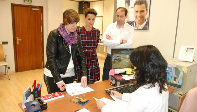 María Chivite formaliza su candidatura para las primarias del PSN.