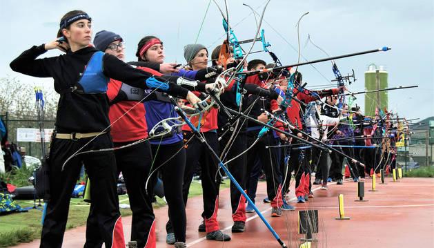 Jornada de tiro con arco en los Juegos Deportivos de Navarra