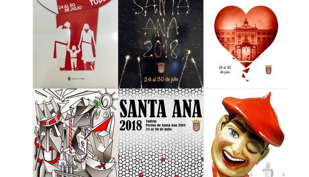Los seis carteles finalistas para las fiestas de Tudela 2018