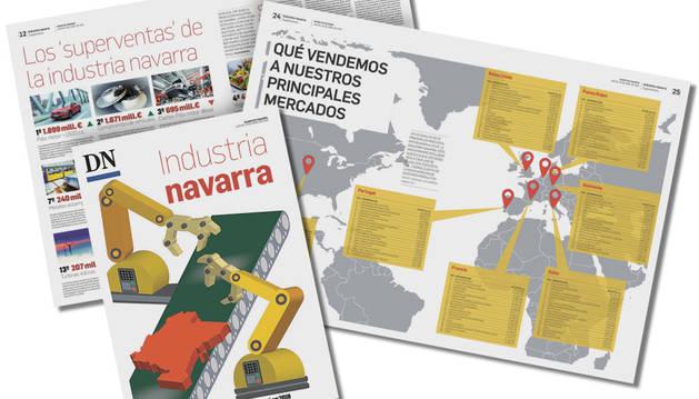 Varias páginas del suplemento especial de industria que publicará Diario de Navarra el jueves.