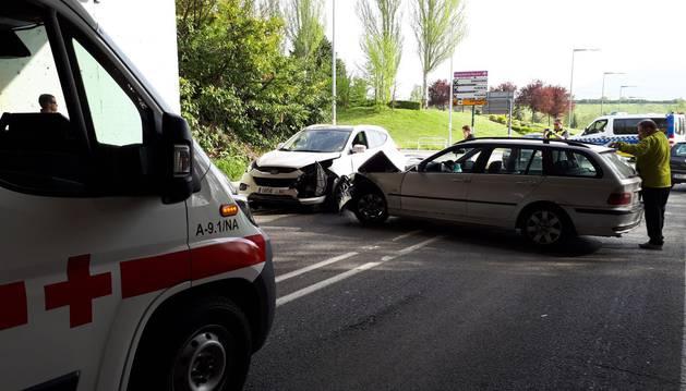 Imagen del estado en el que ha quedado dos de los vehículos implicados en el accidente.