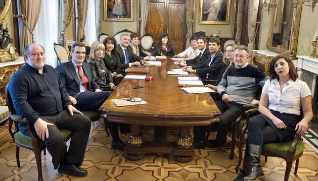 Imagen de hace un año, cuando se constituyó el Consejo Navarro de Transparencia.